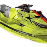 Sea-doo RXT-X Graphics kit Two Face yellow black