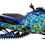 Yamaha Sidewinder Snowmobile Wrap graphics kit Triple edge Blue