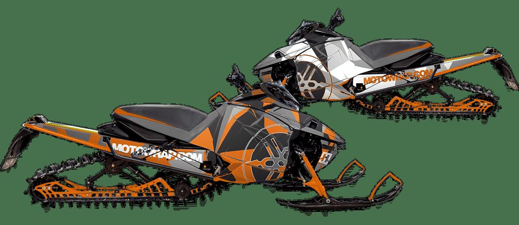 Yamaha snowmobile wraps graphics kits