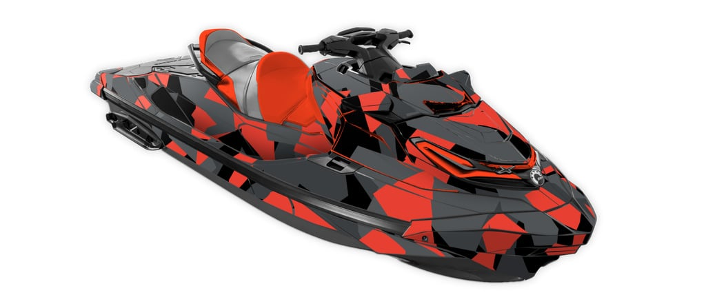 Sea-Doo Rxt-X 300 Graphics Kit Poly Camo Red