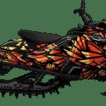 Lynx Boondocker Radien DS 4100 DS 3900 RE 3700 Rave Wrap graphics Phoenix Orange
