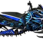 Phoenix Yamaha Viper graphics kit Blue