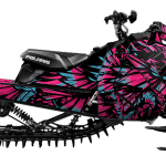 Polaris pro-rmk Axys 800 850 Wrap graphics Phoenix Pink teal blue