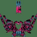 Polaris pro-rmk Axys 800 850 Wrap graphics Phoenix Pink teal blue Overview