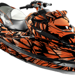 Sea-doo RXT-X 260 300 RS 2011-2017 Wrap graphics kit Phoenix Red