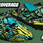 Sea-doo Spark Trixx Wrap graphics kit Phoenix Pineapple Candy blue Coverage