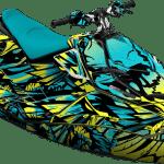 Sea-doo Spark Trixx Wrap graphics kit Phoenix Pineapple Candy blue Full cover