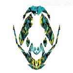 Sea-doo Spark Trixx Wrap graphics kit Phoenix Pineapple Candy blue Primary cover Overview