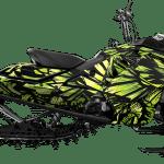 Ski-doo summit freeride Gen4 850 Snowmobile Wrap graphics kit Phoenix Iceberg Lime green