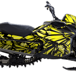 Ski-doo summit freeride Rev XP Snowmobile Wrap graphics kit Phoenix Yellow