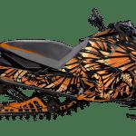 Yamaha Sidewinder Snowmobile Wrap graphics kit Phoenix Orange