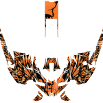 Yamaha Sidewinder Snowmobile Wrap graphics kit Phoenix Orange Overview
