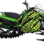 Leopawned Arctic cat m8000 m6000 graphics kit green