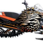 Untamed arctic cat m8000 m6000 graphics kit orange