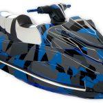 Poly Camo – Yamaha GP1800 Graphics kit Blue