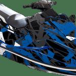 Yamaha EX EXR wrap graphics kit Free to ride Blue