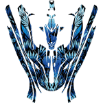 Yamaha EX EXR wrap graphics kit Phoenix Blue Overview
