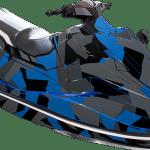 Yamaha EX EXR wrap graphics kit Poly camo Blue