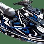 Yamaha EX EXR wrap graphics kit Sportster Blue