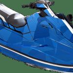 Yamaha EX EXR wrap graphics kit Two face Blue CB