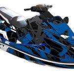 Yamaha EX Graphics kit Free to ride Blue