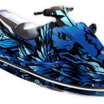 Yamaha EX Graphics kit Phoenix Blue