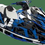 Yamaha GP 1800 wrap graphics kit Free to ride Blue