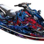 Yamaha EX Graphics kit Intruder Blue